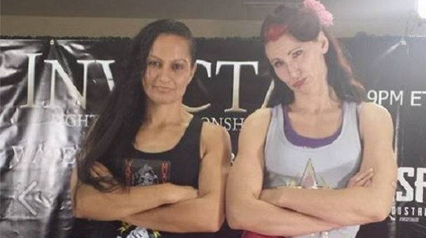 Van Duin & Tweet at Invictus FC 10, Houston TX - Photo / facebook.com/faithvandoom