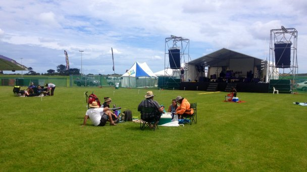 Early arrivals securing a spot at Te Whakatōhea concert