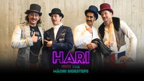 Hari with the Māori Side Steps