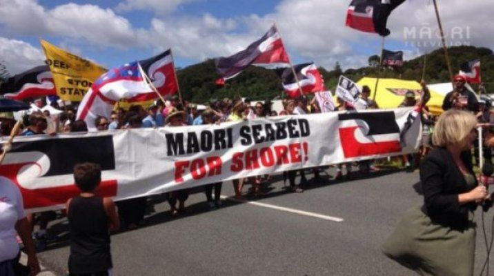 Anti-oil drilling hīkoi arrives to Waitangi